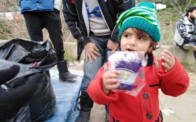 Vluchtelingen op Samos